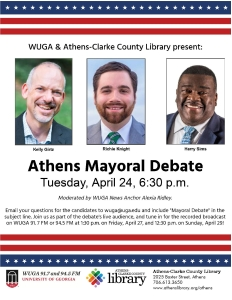Poster for the Athens Mayoral Debate