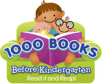 Image of the 1000 Books Before Kindergarten logo
