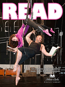 READ poster featuring acrobats from Canopy.