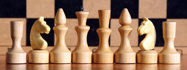 Photo of chess pieces.