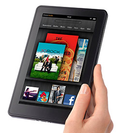 Image of a Kindle Fire eReader.