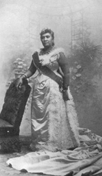 Photo of Queen Lili'uokalani, published 1898