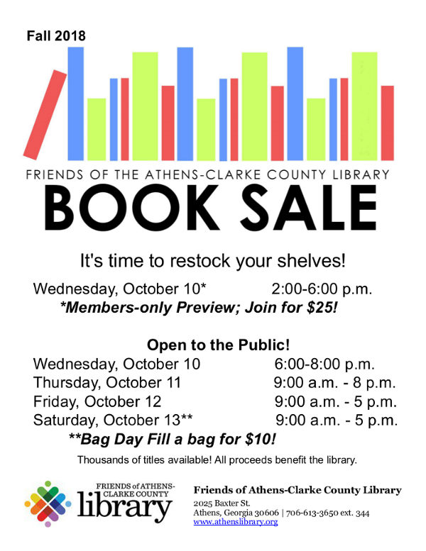 Friends of the Library Booksale Oct 10 to 13