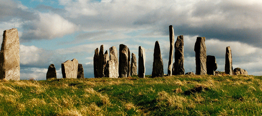 Photo of standing stones in Scotland.