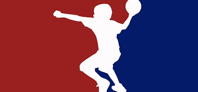 Image of a person throwing a dodgeball