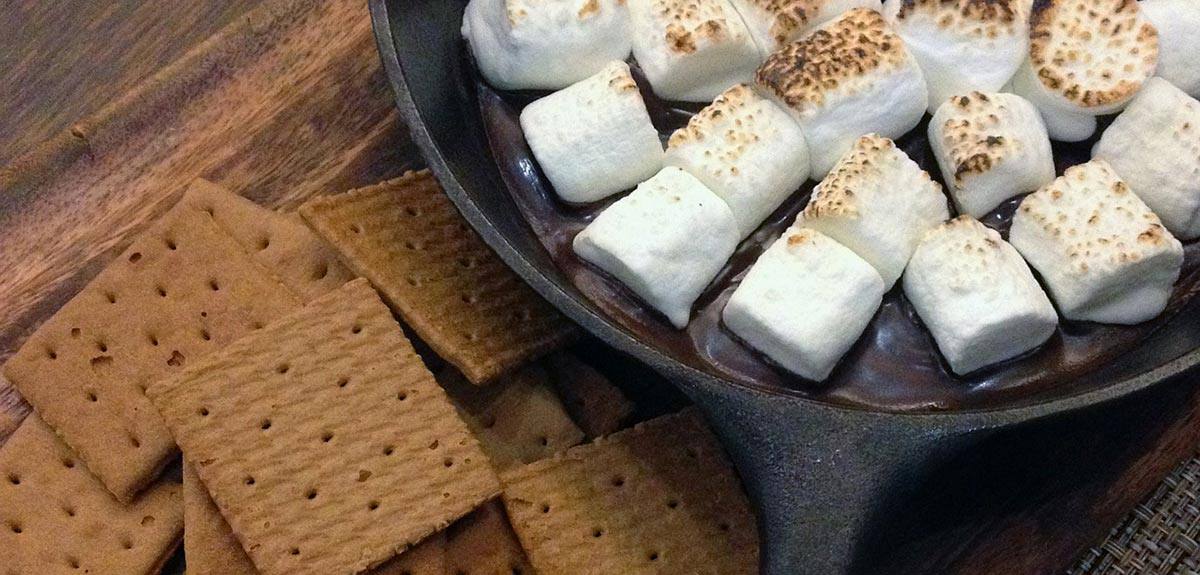 Photo of graham crackers and toasted marshmallows.