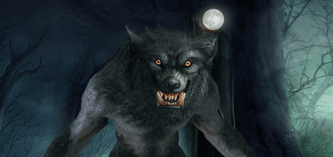 Image of a snarling werewolf.