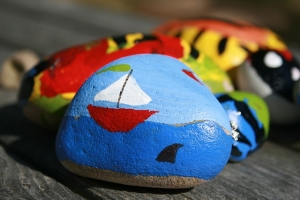 Picture of a rock painting