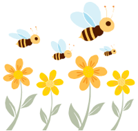 Image of flowers and bees.