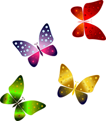 Image of colorful butterflies