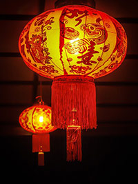 Photo of red Chinese lanterns for the New Year.