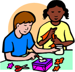 Image of kids making crafts