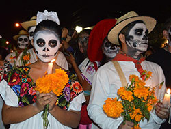 Picture of people in Day of the Dead makeup