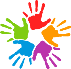 Image of multicolored hands