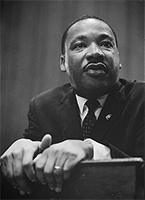 Photo of Dr. Martin Luther King Jr, taken March 26, 1964 by Marion S. Trikosko.  Retrieved from loc.gov