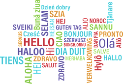 Image of hello in many different languages.