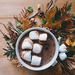 Photo of a mug of hot cocoa.