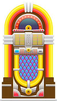 Image of a 50s-style jukebox.