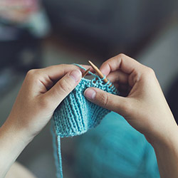 Picture of someone knitting