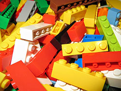 Photo of colorful Lego blocks.