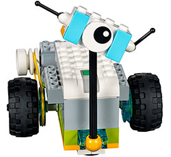 Photo of a Lego WeDo robot.