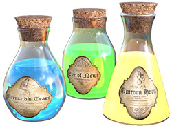 Image of magic potions.
