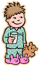 Image of a kid on pajamas
