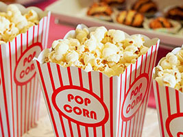 Photo of movie-style popcorn.