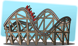 Image of a roller coaster.