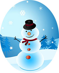 Image of a snowman.