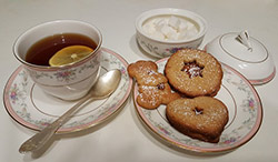 image of tea and cookies