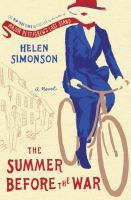 The Summer Before the War Book Cover