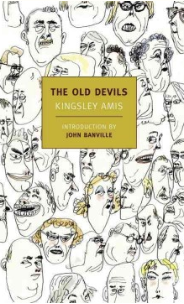 book cover of the old devils with illustrated faces