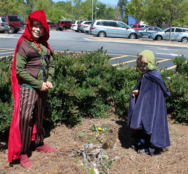 Photo of patrons in fairy costumes.