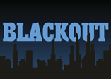 Image of a dark city with the word Blackout.
