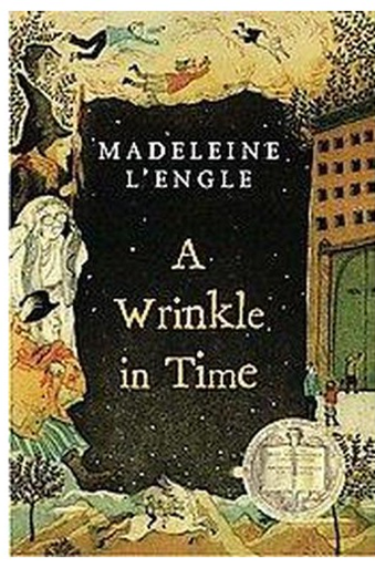 Book cover of A Wrinkle in Time.