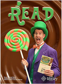 Read poster featuring Mr Evan as Willy Wonka