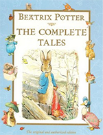 Book cover of Peter Rabbit.