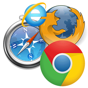 A collage of browser icons.