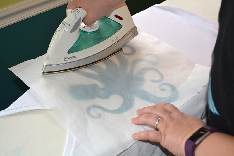 Photo of the second ironing of the design.