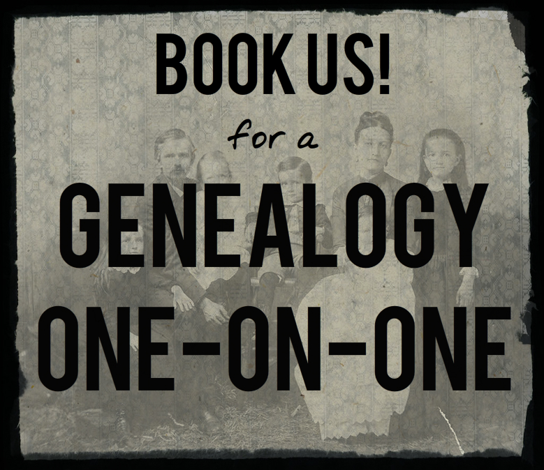 Book Us! for a Genealogy One-on-One