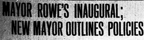 Clipping from a 1910 issue of the Banner-Herald discussing the inauguration of H.J. Rowe