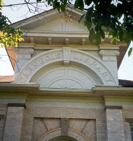 Photo of the Lavonia-Carnegie Library fascade
