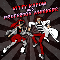 Image of Kitty Kapow and Professor Whiskers.