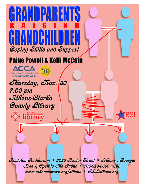 Flyer for the Raising Grandchildren event