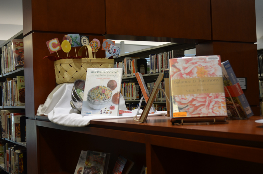Photo of a cookbook display