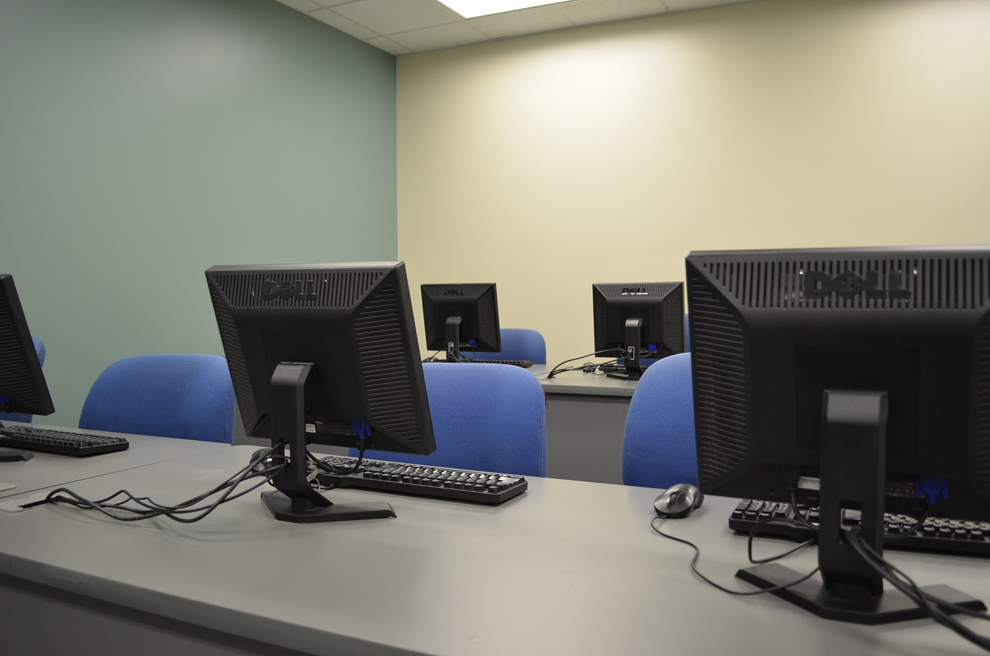 Photo of the new computer classroom