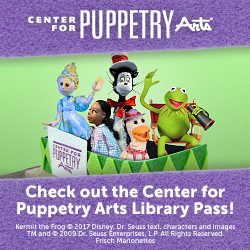 Photo of puppets at the Center for Puppetry Arts.