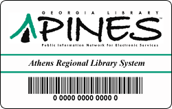 An example of a Pines library card.